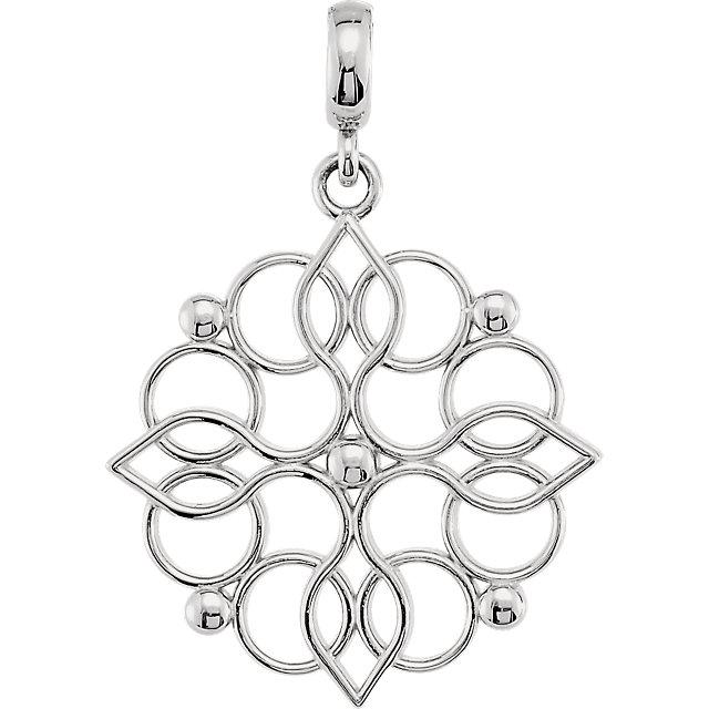 Sterling Silver Decorative Pendant
