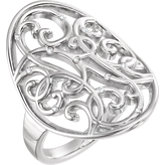 Filigree Scroll Ring