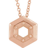 Geometric Necklace or Chain Slide