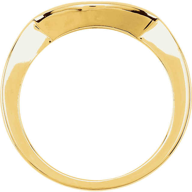 14K Yellow Matching Band for 4.1 mm Round Ring