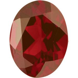 Garnet Oval 0.30 carat Orange Red Photo