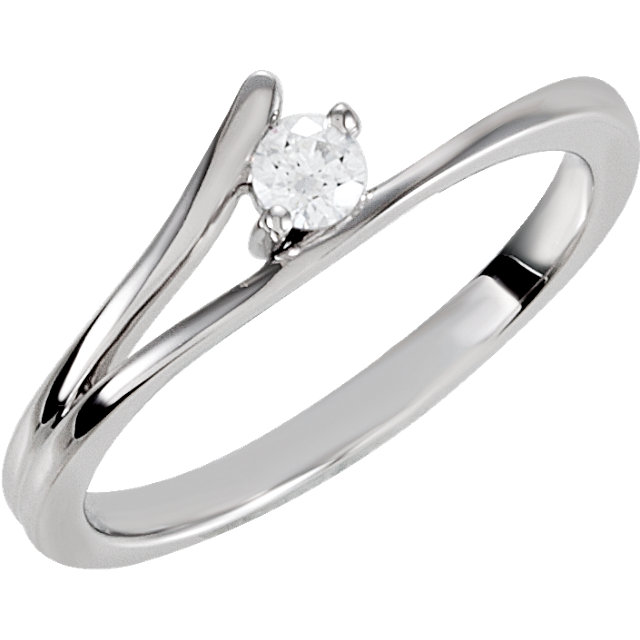 Sterling Silver Cubic Zirconia Ring Size 6