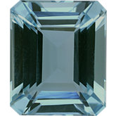 Emerald/Octagon Genuine Aquamarine (Black Box)