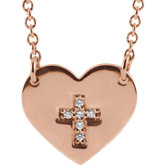 Heart & Cross Necklace