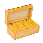 72 Hole Wooden Bur Box with Lid