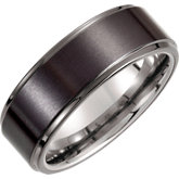 Tungsten & Ceramic Couture® Band