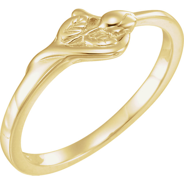 10K Yellow The Unblossomed Rose® Ring Size 6