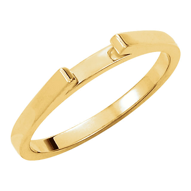 14K Yellow Band for 6mm Round Ring