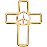 Peace Sign Cross Pendant