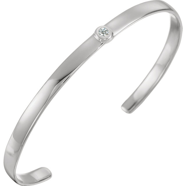 14K White 1/10 CTW Diamond 8