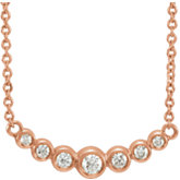 Graduated Bezel-Set Necklace