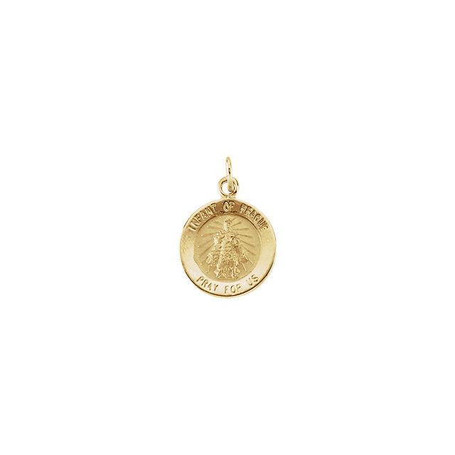 14K Yellow 12 mm Round Infant of Prague Medal