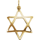 Domed Star of David Pendant