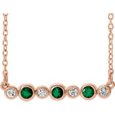 Bezel-Set Bar Necklace or Center