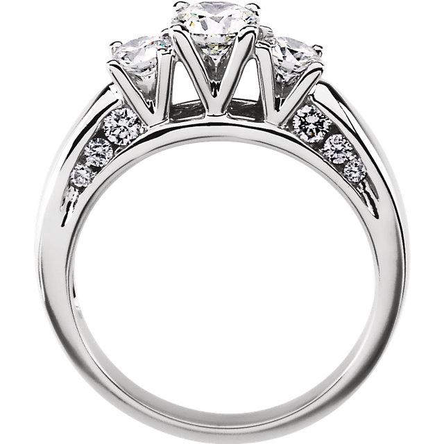 14K White 1 1/5 CTW Diamond Engagement Ring