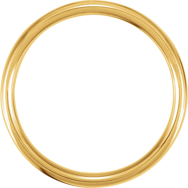 14K Yellow 3.5mm European Comfort Fit Band Size 7