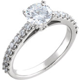 Cathedral-Style Engagement Ring or Band