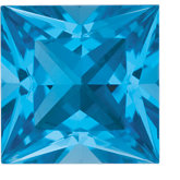 Square Genuine Swiss Blue Topaz