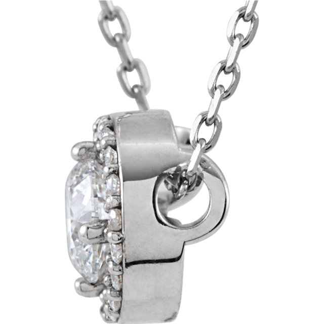 14K White 1/2 CTW Diamond Halo-Style 16