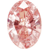 Oval SWAROVSKI GEMSTONES™ Lab Created Morganite Pink Cubic Zirconia