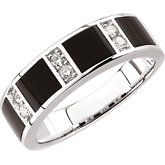Men's Onyx & Diamond Band