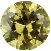 Round Yellow Cubic Zirconia