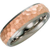 Rose Immerse Plated Inlay Titanium Band