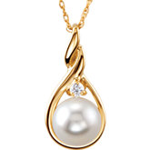 Accented Pearl Necklace