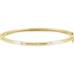 Bracelet, 14K Yellow 1/4 CTW Diamond Bangle Bracelet