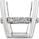 Oval 4-Prong Accented Basket Setting