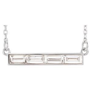 Necklace / Chain , Baguette Bar Necklace