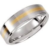 Cobalt & 14K Yellow Inlay Band