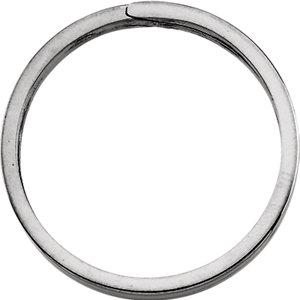 Sterling Silver 31.75mm Round Split Key Ring