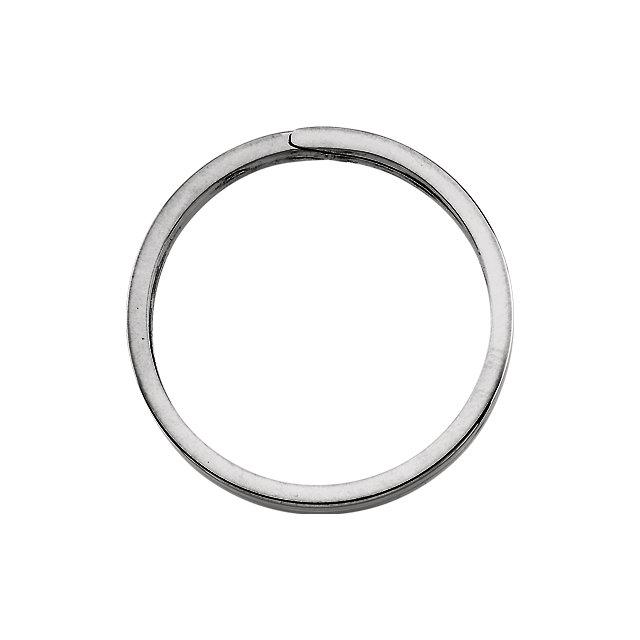 Sterling Silver 31.75 mm Round Split Key Ring