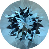 Round Genuine Aquamarine (Black Box)