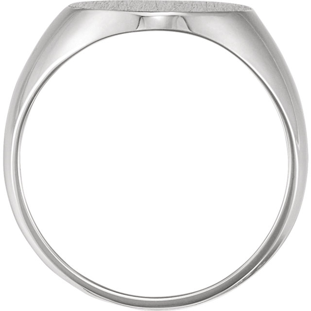 Sterling Silver 22x20 mm Solid Oval Men-s Signet Ring
