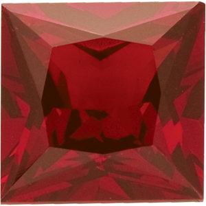 Garnet Square 0.22 carat Orange Red Photo