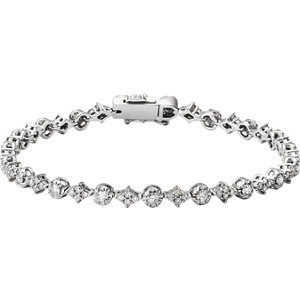 Bracelet, 14K White 2 0.50 CTW Diamond 7.5