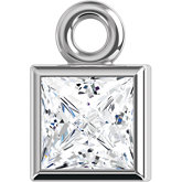 Square Micro Bezel Dangle