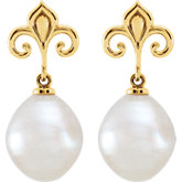 Fleur-de-lis Pearl Earrings