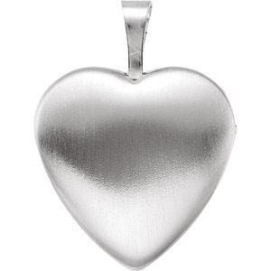 Sterling Silver Heart Locket with Cross