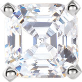 Asscher 4-Prong Tall Heavy Shank Setting