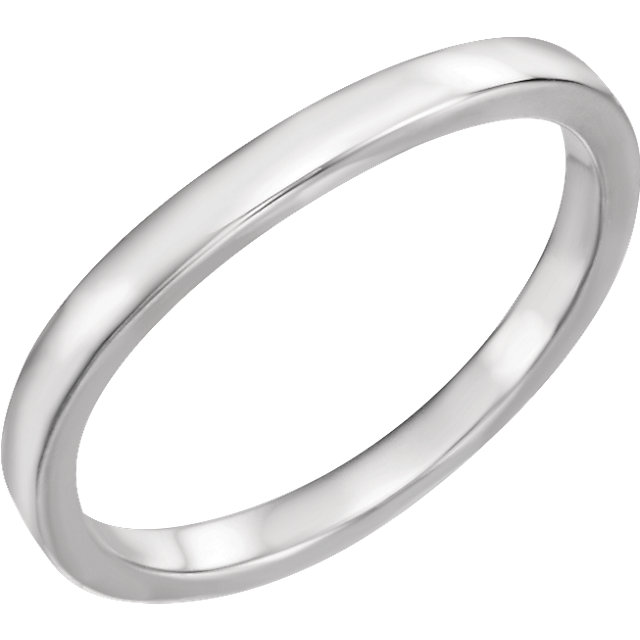 14K White Band for 1/2 CT Three-Stone Princess Engagement