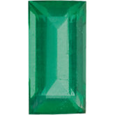 Straight Baguette Genuine Emerald