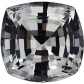 Antique Square Genuine White Sapphire (Black Box)