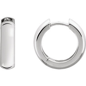 Sterling Silver 16mm Hinged Earrings