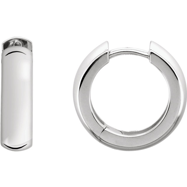 Sterling Silver 16 mm Hinged Earrings