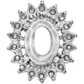 Oval 19-Stone Cluster Setting