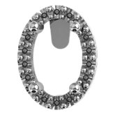 Oval 4-Prong Halo-Style Pierced Gallery Setting for Earring Assembly