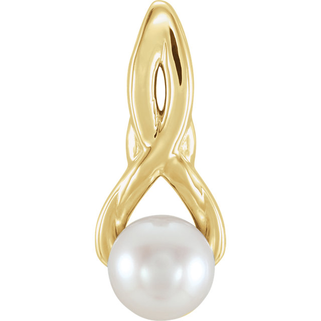 14K Yellow Freshwater Cultured Pearl Pendant